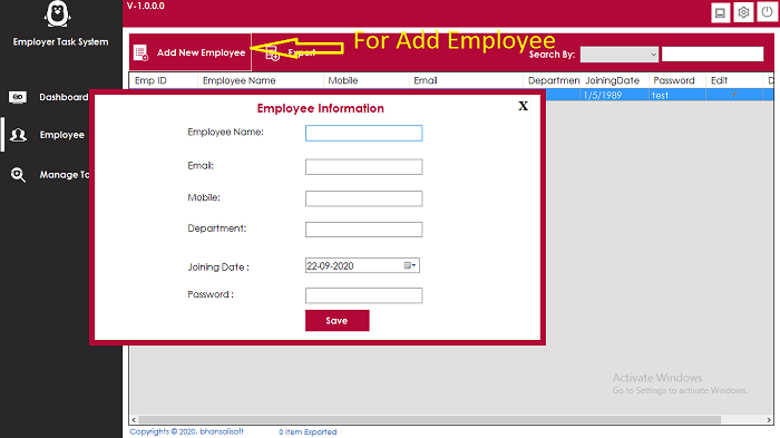 Employer Task Management Software - 2
