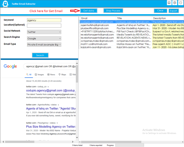 Twitter Email Extractor - 2