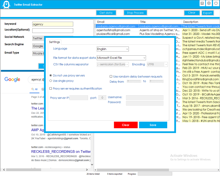 Twitter Email Extractor - 4