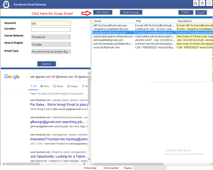 Facebook Email Extractor - 2
