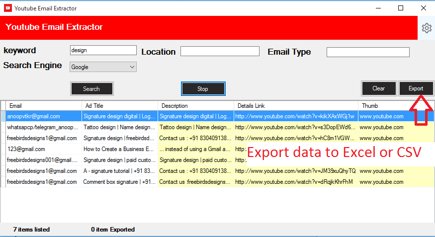 Youtube Email Scrapping Tool - 2