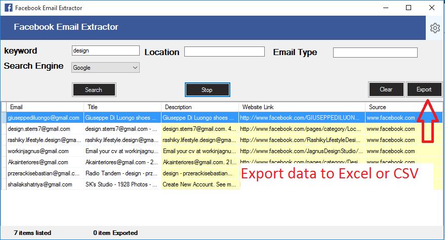 Facebook Email Scraping Tool - 2