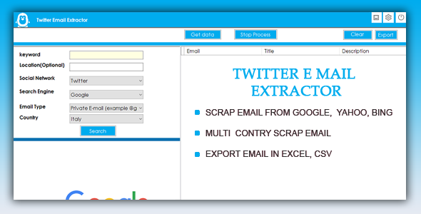 Twitter Email Scrapper